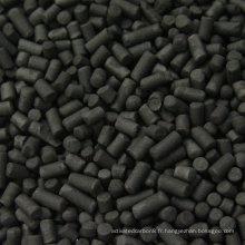 Charbon actif charbon de charbon cylindrique de 4,0 mm pour adsorption à haute efficacité DX40
