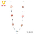 2014 Crystal and Agate Necklace Costume Jewelry
