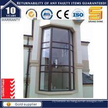 Ventanas abatibles de aluminio francés con vidrio fijo (CW-50)