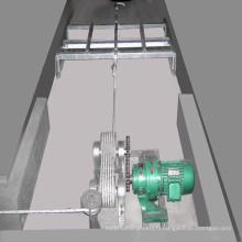 Système de retrait du fumier pour un système de cage de poulet de type