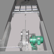 Manure Removal System for a Type Chicken Cage System