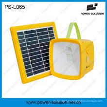 Antorcha solar recargable de 4500mAh con radio FM y cargador móvil