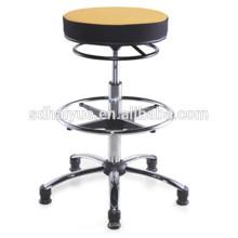 2017 hohe Qualität schwarz / gelb Stoff Swivel Barhocker Counter Chair