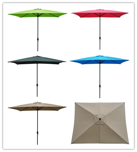 Outdoor Square Patio Beach Umbrella with Crank