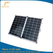 100W Portable Folding Solar Module Made by Monocrystalline Solar Cell Silicon (SGM-F-2*50W)