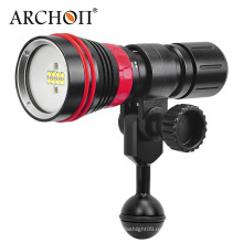 Новое прибытие W32vr 5 мм Закаленное стекло Удобный ручной поворотный магнитный переключатель 2000 люменов Multifuntion Дайвинг видео свет