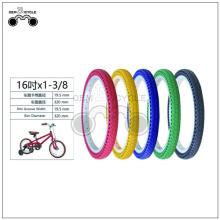 Pneu de vélo multi-couleurs de 16 pouces non pneumatique