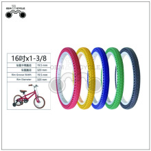 16 inç çok renkli bisiklet lastik non-pnömatik