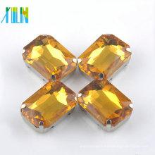 mode rivoli octagon cristal argent pavé pierres avec réglage
