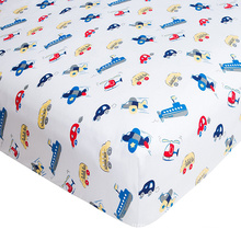pure natural cotton crib sheets home textile custom printing jersey cotton fitted sheet