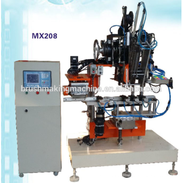 Machine de brosse automatique de bande de commande numérique par ordinateur de 2 axes à grande vitesse / brosse de bande de commande numérique par ordinateur faisant la machine / machine de perçage de brosse de bande et machine de tufting