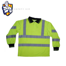 High quality warranty visibility reflective safety yellow long sleeve shirts