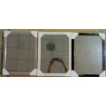 Schwarz weiß silber flach 30x120cm PS Mirror Frame