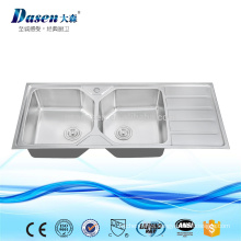 Lay on stainless steel kitchen rinses sink 1200x500mm Foshan factory