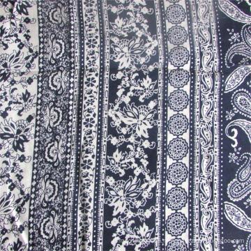 Окрашенная и набивная 100% вискозная ткань для женской одежды