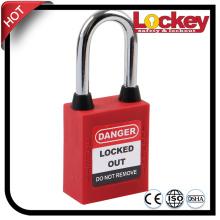38mm Steel Shackle Dustproof  Danger Lockout Tagout padlock safety lock – LOTO safety RED