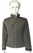 Warm winter fleece jacket for outdoor sporting