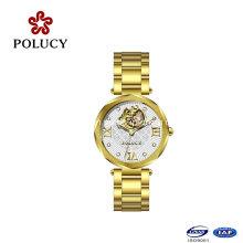 Made in China Gold automatische Damenuhr Mechancial Frauen Uhr