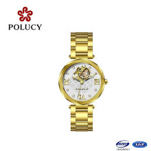 Made in China Gold Automatic Lady Watch Mechancial Women Watch