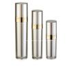 Frasco e frasco de bomba sem ar para loção cosmética de alumínio