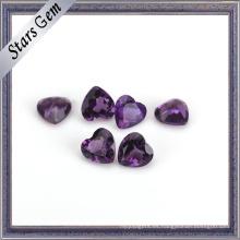Hermoso corazón de alta calidad de piedra amatista natural para la joyería