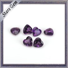 Beautiful Heart High Quality Natural Amethyst Stone for Jewelry
