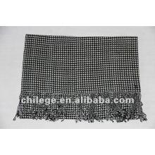 Rectangle grid men knitting wool shawl scarf