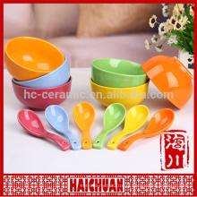 Ceramic Pan Pan Placa cerâmica bakewave cerâmica colorido oblongo tigela com tampa de silicone