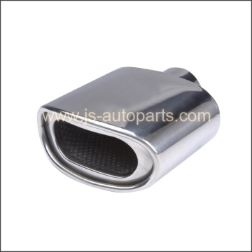 POLISHED STAINLESS DOUBLE WALL PERF CORE INSIDE OVAL ROLLED EXHAUST TIP