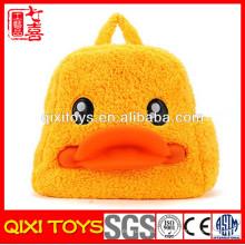 de volta à escola mochila de pelúcia pato bonito