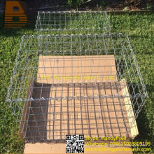 Caja de la cesta de Gabion de la jaula de piedra de la malla de alambre soldada con autógena