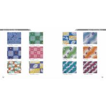PVC anti deslizamento impresso banho rolos mat