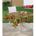 Mantel transparente impreso PVC colorido con el diseño de la fruta para el hogar / el partido / al aire libre