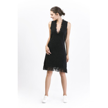 Mode Damen Wollkleid