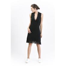 Vestido de lana de las señoras de moda