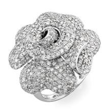 Joyería grande del anillo de la plata esterlina del diamante 925 de la CZ de la flor