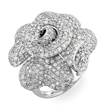 Big Flower CZ Diamond 925 Bijoux en argent sterling