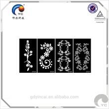 Henna design do último adesivo de tatuagem, noiva temporária etiqueta do tatuagem do corpo