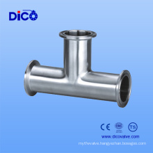 Stainless Steel Sanitary Food Grade Clamp Tee for Dico Brand