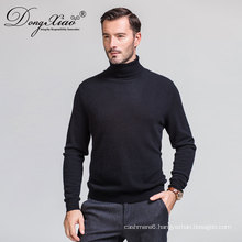 High Neck Cashmere Stock Black Sweater With Good Price Short Lead Time