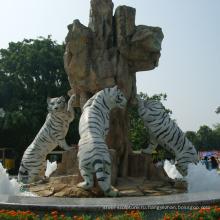 открытый сад украшения резьба по камню мрамор тигр скульптура