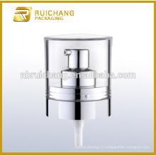 Pompe à lotions en plastique UV avec AS overcap / 20mm pompe à crème / distributeur de pompe à revêtement uv