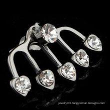 2015 Wedding Earring Jewelry Ear Clip Heart Shape Crystal Ear Cuff EC20