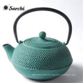Chinese Made Custom Printed Logo Cast Iron Enamel Teapot
