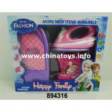 Eletrodomésticos elétricos do brinquedo plástico de B / O ajustados (894316)