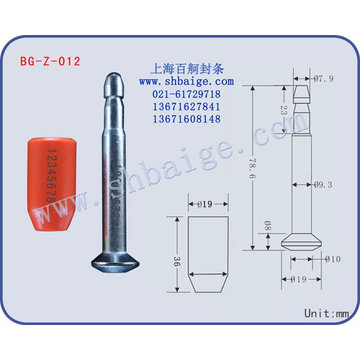 High security bolt seal BG-Z-012