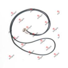 Cadena de cuerda trenzada negra de encargo de DIY para la joyería pendiente (ARJ60104)