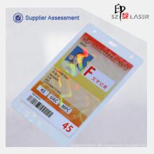 10 mil identificación de holograma térmica lamina bolsas para tarjetas de identificación