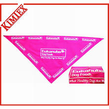 Fashion Cotton Puff Printing Triangle Pet Bandana