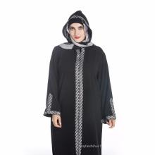 Maxi qualité polyester maxi taille femmes kimono musulman dubai abaya robe